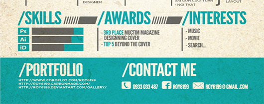 Creative CV awards section
