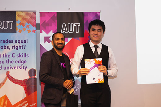 MYOB Shailan Patel presenting prize