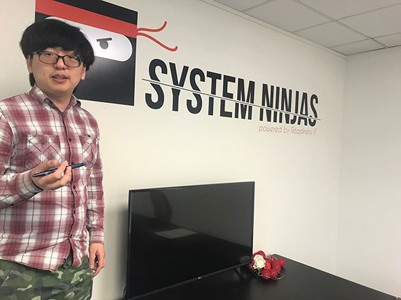 Systems Ninja Brian Kong at work
