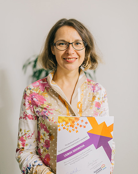 Social Impact Edge Award winner Liubov Sidavora