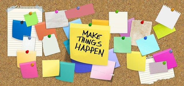 Make things happen note