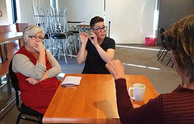NZSL sign language interpreter Rebekah Guy