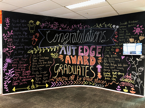 AUT Edge Award winners on blackboard